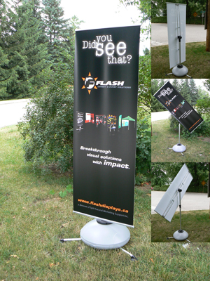 GUST Outdoor Portable Banner Stand