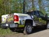 Dirt Cheap pickup truck partial wrap