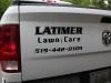 Cut Vinyl Logo on tailgate Dodge Ram 1500