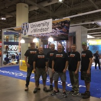 University of Windsor 50x60 Custom |  Flash Displays Installation Team