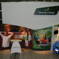 Fleming College 10x20 Custom Fabric
