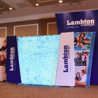 Lambton College | 30x10 Custom Elan Fabric Displays with Fabric Lightbox