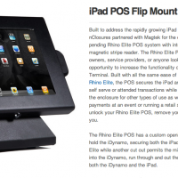 iPad POS Flip Mount //