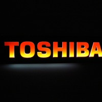 Toshiba Interior Dealer Sign - Lighted