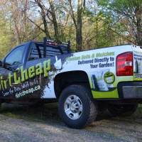 Dirt Cheap pickup truck vinyl graphic wrap